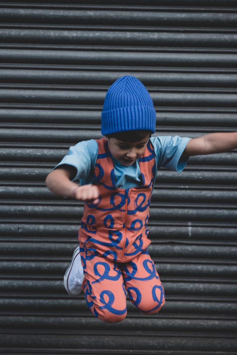 Cub & Pudding unisex kids Loops Doodles dungarees